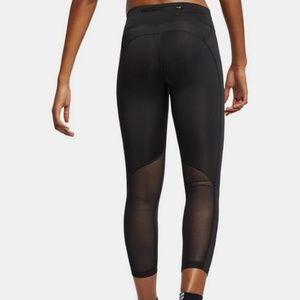 NWT Nike Fast DriFit Logo Mesh Capri Leggings XL